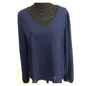 Melissa Paige Navy Top